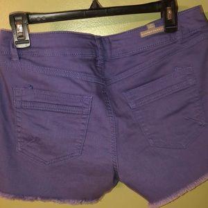 Lauren Conrad Women's Purple Denim Shorts Size 8
